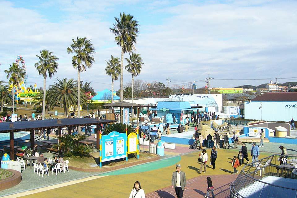 """体验型的水族馆和玩具游乐园。这是由可免费参加""""接触体验""""的体验型水族馆和中部地区首个玩具王国组成的充满乐趣的地方。不论男女老少都能在这里玩得尽兴。"""